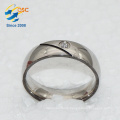 Fashion Wholesale Rhodium Plating New Designs Custom Made Stainless Steel Ring