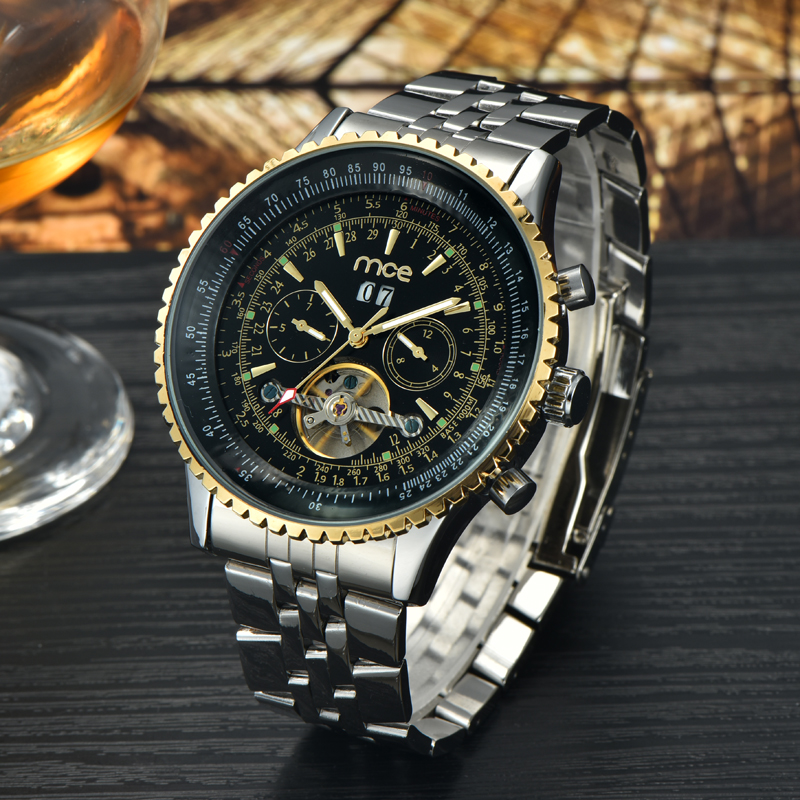 Automatic tourbillion watch for men
