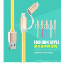 2 em 1 estilo de moda cabo USB