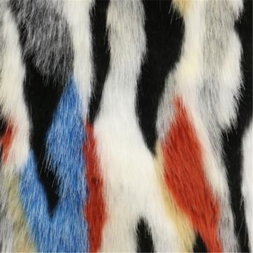 Tecido de lã de pele colorida para sobretudo da mulher