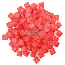 Rote Glasstücke Bulk für Mosaikzubehör