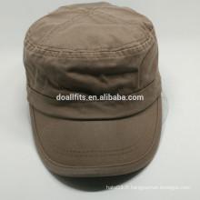 Logo coutumier bonne qualité bon marché chapeau de l'armée fabriqué en Chine