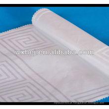 preço de fábrica jacquard penteado algodão tecido de roupa de cama
