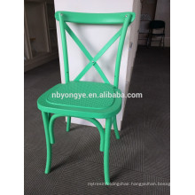 Stacking cross back chair