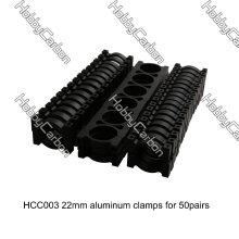 Pince en aluminium de tube de HCC004 22mm OD pour Multicopter / hélicoptère de bride de boom / agrafe de Multirotor / UAV