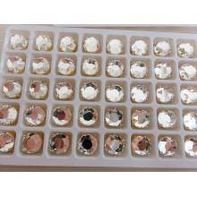 Perles rondes en verre à dos plat pour bijoux en cristal