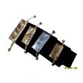 Flocked золотые серебряные мешки ювелирных изделий продают оптом (P-FSV-S / M / B)