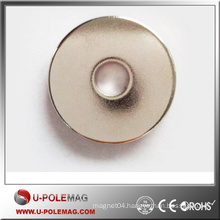 Ring NdFeB Permanent Magnet With Shining Nickel Plating N35-N52
