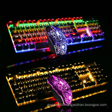 high quality 104 Keys wired gaming backlight keyboards rgb LED Wired mechanical keyboard mouse combos