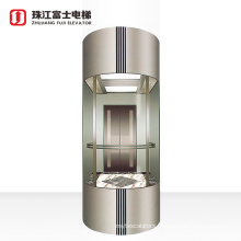 Fuji Brand outside 800kg panorama capsule glass elevator high technology glass sight seeing building passenger lift