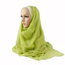 Fashion plain color glittery tudung Muslim scarf