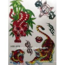 tiger temporary tattoo sticker