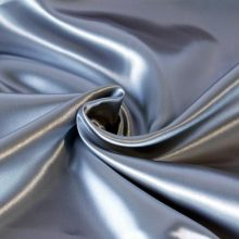 Quente venda de alta qualidade de cor personalizada lisa tingida de cor sólida cetim tecido drapery