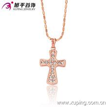 Pendentif en croix rose avec zircon