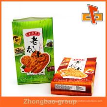 Kundenspezifische Design laminierte Kunststoff quadratischen unteren Papiertüte mit Druck für Cookie-Verpackung
