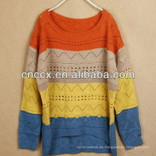 Jersey de punto de mujer de diseño colorido 12STC0589