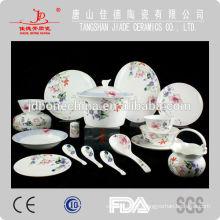 Utensilios de cocina de hueso china con flor