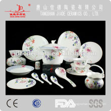 bone china kitchenware with flower