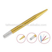Outils de maquillage permanents dorés