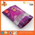 Chinese OEM printed stand up resealable plastic doypack with zipper