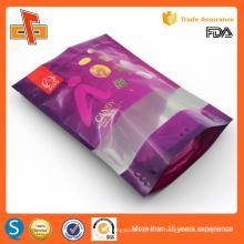 Chinesische OEM-gedruckte Stand-up wiederverschließbare Plastik-Doypack mit Reißverschluss