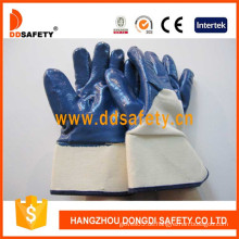 Baumwolle mit blauem Nitril-Handschuh-DCN309