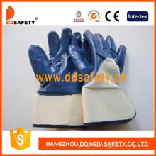 Algodón con guante de nitrilo azul-DCN309