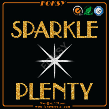 Sparkle Plenty glitter wholesale custom heat transfers