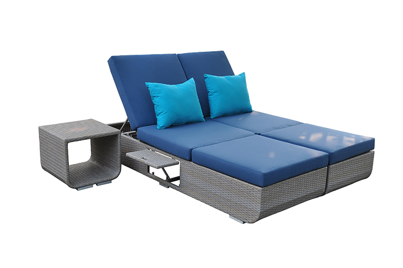Sun Lounger 4 Position Adjustable Back Rests Sofa China