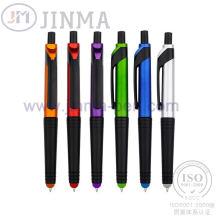 Поощрения подарки пластмассовый шарик перо Jm-1035 с цветным сенсорным стилус