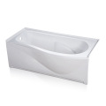 Curved Jacuzzi Alcove Soaking Bathtub