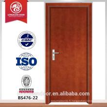 Porte bois en bois à feu, porte de sécurité, porte entance en bois