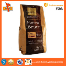 Laminat matt Seite Zwickel Pulver Verpackung Tasche für Kaffee Kakaopulver 500g 250g