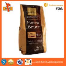 Bolso de empaquetado laminado del lado del gusset mate para el café cacao en polvo 500g 250g