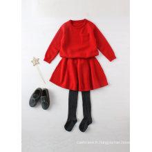 Phoebee 100% laine pull tricoté costume parent-enfant pour l'hiver