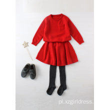 Sweter Phoebee Wool Red Girls na zimę