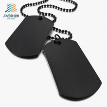 Customized Metal Blank Dog Tag, Enamel Plated Black and Nickel Tag