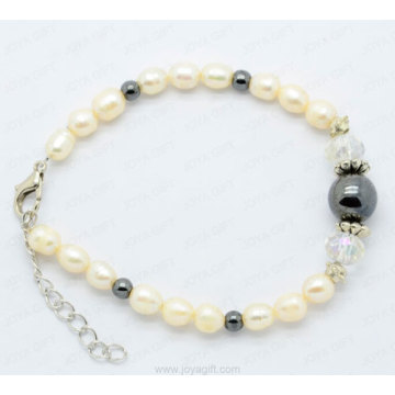 Hematite Pearl Bracelet For Women
