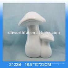 Горячий продавая белый керамический гриб для украшения сада
