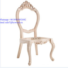 Home Furniture frame  luxury  chair frames antique carved dining furniture wooden carving chair frame