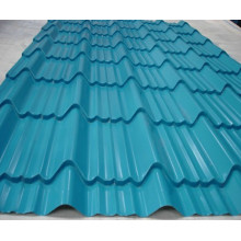 Corrugated steel roofing tile