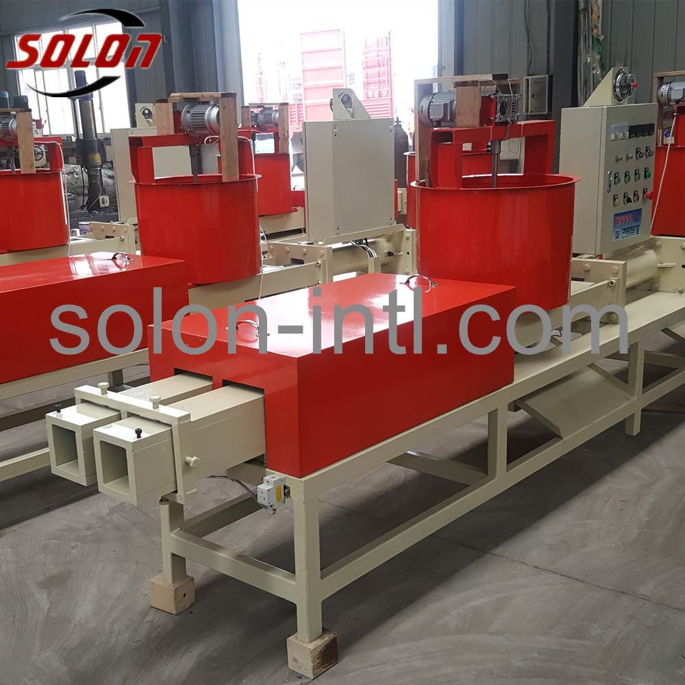 Block machine wood pallet for hot sale