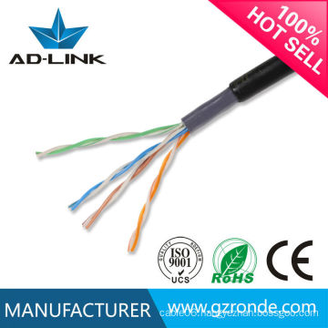 cat5e network cable outdoor double jacket, PVC PE jacket