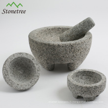 Mortier et pilon en pierre mexicain Molcajete