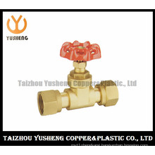 Female Brass Copper Gate Valve with Aluminum Handle (YS6008)