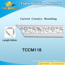 Waterproof Polyurethane Cornice Mouldings For Villa Decor