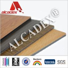 3mm 4mm Aluminium Plastic Composite Panel, Fake Wood ACP Material