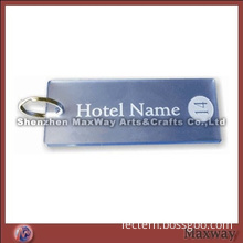 Hot selling quadrate acrylic lucite key chain key ring