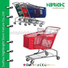 100L supermarket plastic basket shopping cart trolley