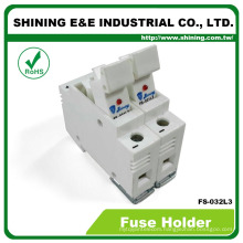 FS-032L3 With LED Indicator 600V 32A 2 Pole 10x38 Fuse Holder